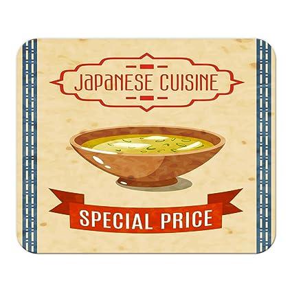 Alfombrilla de ratón Retro Nostalgia Asia arroz frito Mousepad