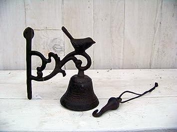Campana para puerta pájaro hierro fundido