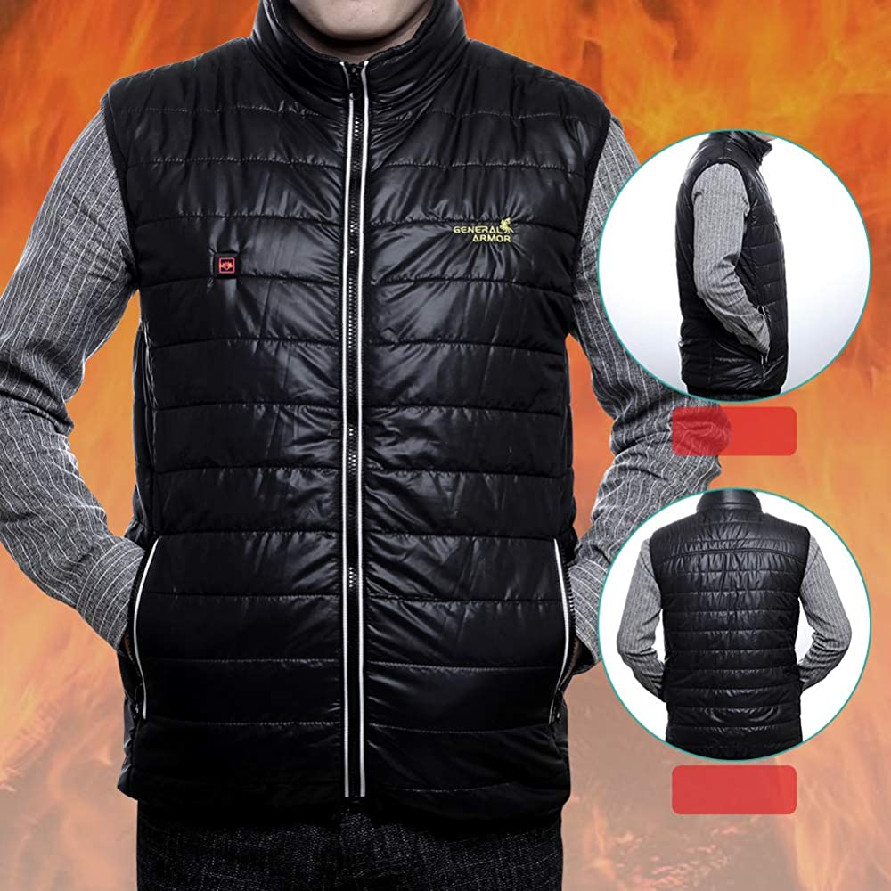 General Armor Electric Heated Vest With Usb Charging For Men Or Women Washable White Clothing Amazon Com