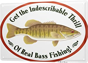 LEotiE SINCE 2004 Tin Sign Metal Plate Decorative Sign Home Decor Plaques 30 x 40 cm Pisces Angel Fish Fishing Fisherman's House Vintage