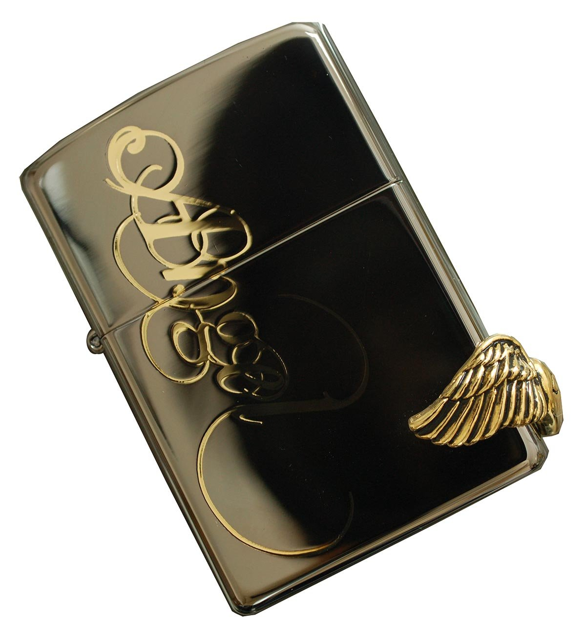 Zippo Love Angel Black Ice Lighter Made In Usa Genuine Gold And Original Packing Health Personal Care
