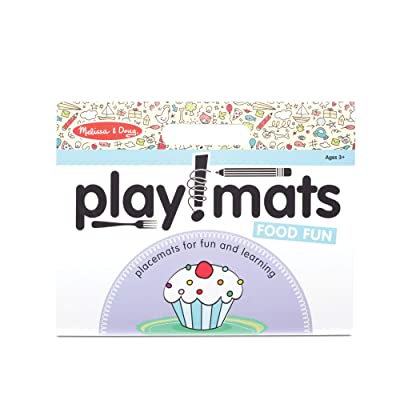 Melissa & Doug Playmats Food Fun Take-Along Paper Coloring and Learning Activity Pads (24 Pages) (31432): Toys & Games