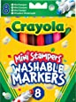 Crayola - 58-8125-e-000 - Feutre - 8 Mini Stampers Animaux - Lavables