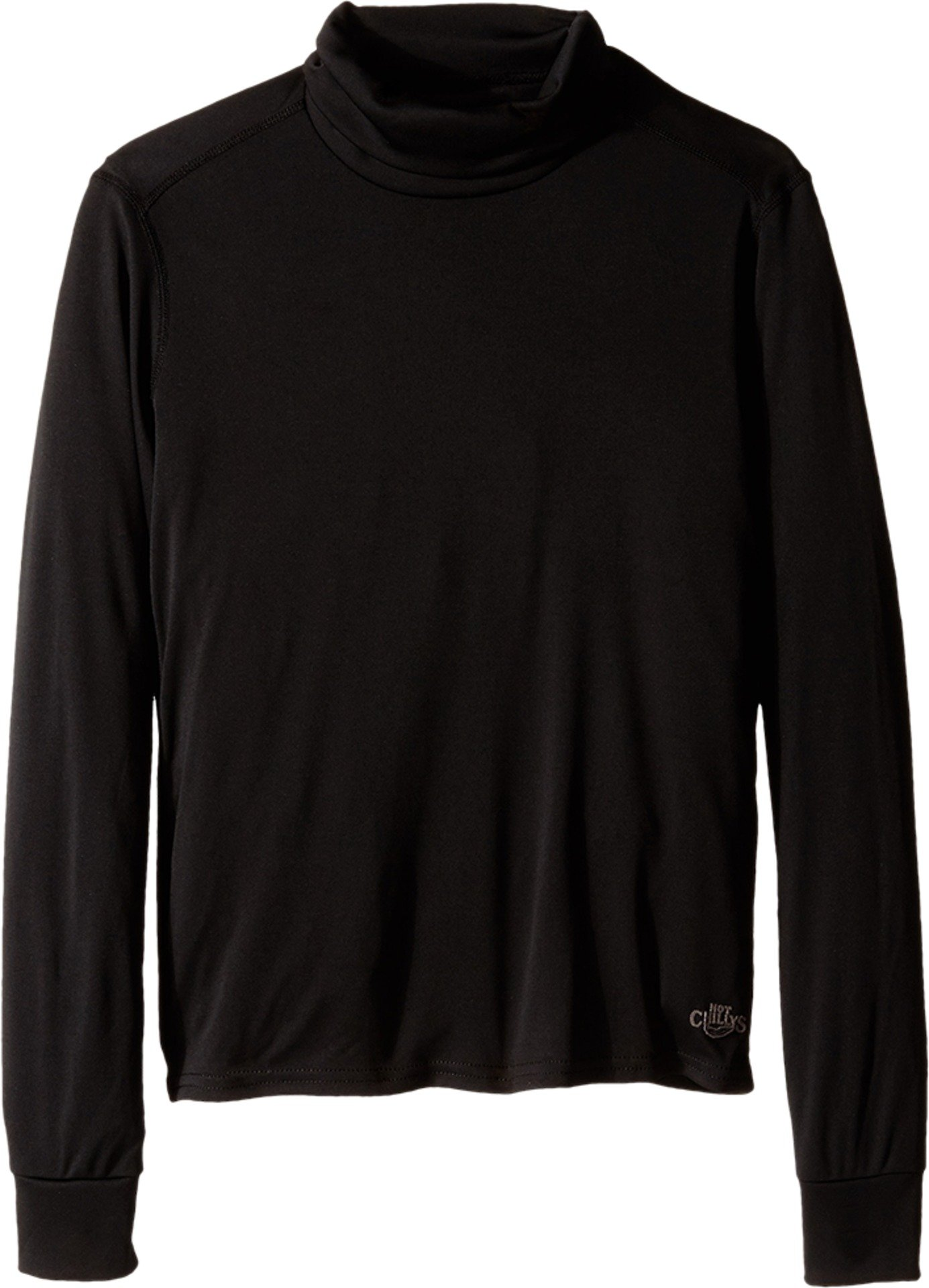 Hot Chillys Youth Peach T-Neck Tee (Black, Medium) by Hot Chillys