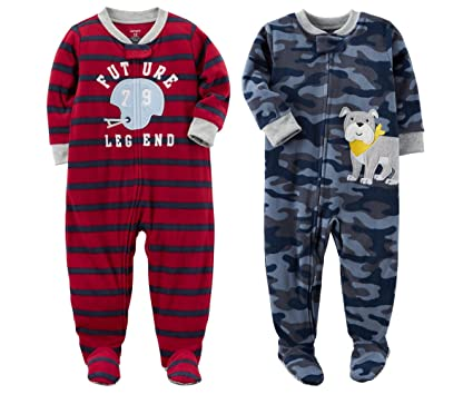 980788adaa71 Amazon.com  Carter s Baby Toddler Boy s 2 Pack Fleece Footed Pajama ...