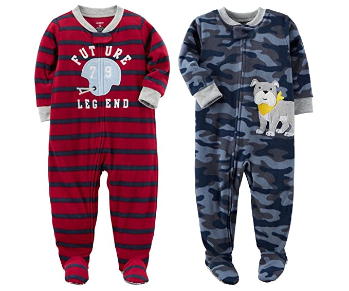 dbddffc11264 Carter s Baby Toddler Boy s 2 Pack Fleece Footed Pajama Sleep and ...