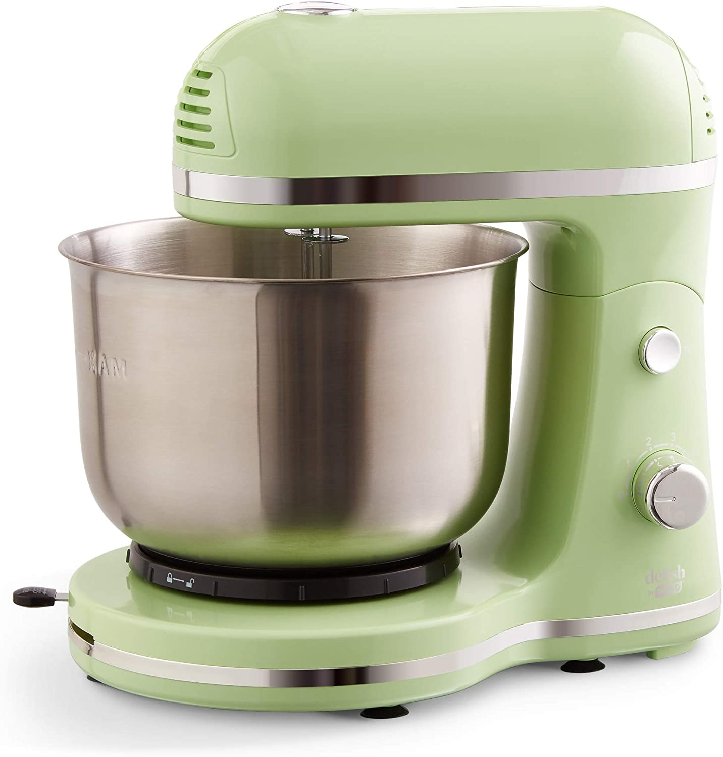 Delish by DASH Compact Stand Mixer 3.5 Quart with Beaters & Dough Hooks Included - Green (DCSM350GBGR02)