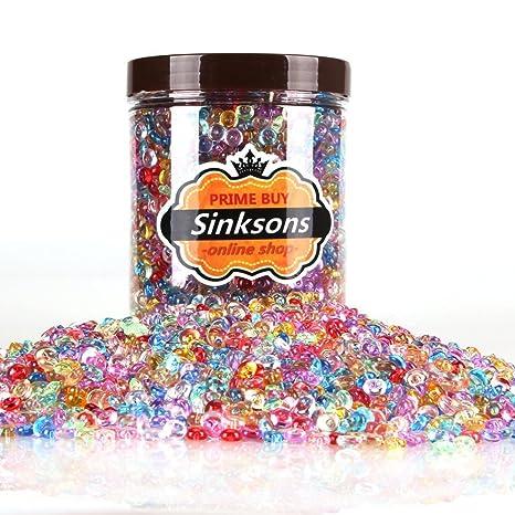 Perlas de Pecera para crujientes Slime – colorido plástico 10,5 onzas/0,