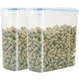 Tosnail 17 Cups Food Storeage Container Airtight Watertight Cereal Keeper Cereal Dispenser - Pack of 2