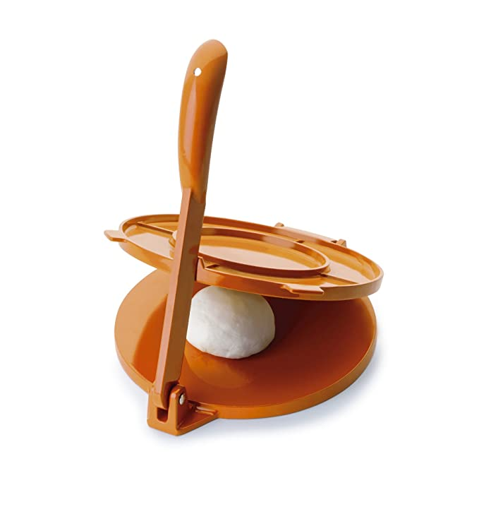 Ibili 799820- Prensa para tortillas, aluminio naranja, 20 cm