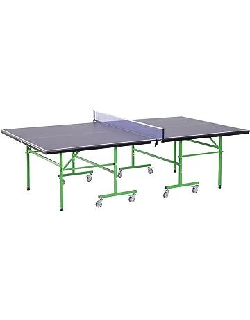 HOMCOM Mesa de Ping Pong Plegable con Ruedas Red Tenis de Mesa Portátil  Patas Ajustables para fbf7e1317952e