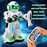 LBLA Jouet Robot Télécommande Robot de Contrôle à Distance avec Musique et Lumières LED Intelligente Gesture Sensing Robots Jouets de Danse Chant et Marcheur Parle Multifonction Jouet pour Enfants