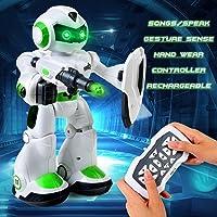 LBLA Remote Control Robot, Smart Robotics Kids Gesture Sense, LED Eyes, Singing, Dancing Speaking, Educational Toys Kids/3 Year Olds