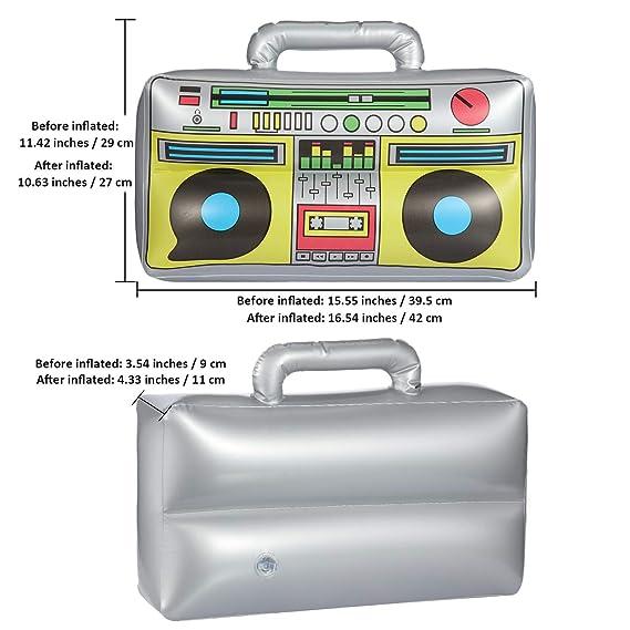 meekoo Radio Inflable de 16.5 Pulgadas Radio Inflable Decoración ...