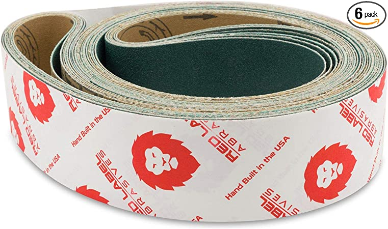 """2/""""x72/"""" Sanding Belts 60 Grit Premium Orange Ceramic 6pcs"""