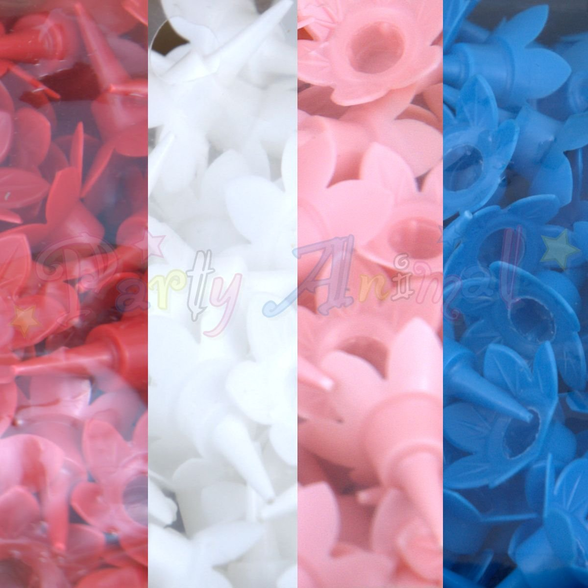 Bulk Pack of Plain Birthday Candles or Holders - Packs of 500 - Cake decoration accessories (Mixed Candle Holders)