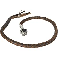 Classic Biker Leather Two Tone Brown Get Back Whip for Motorcycles