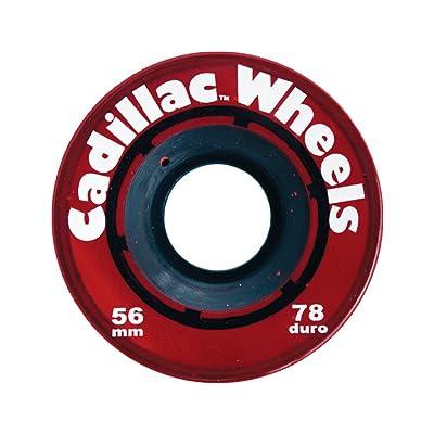 Cadillac classique 56MM 78A longboard roues–rouge (Lot de 4)