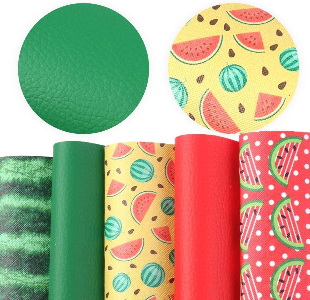 5 قطع من ملحقات David مقاس 8 بوصة × 13 بوصة (20 سم × 34 سم) ملاءات من الجلد الصناعي المطبوع تتضمن نوعين من قماش الجلد لصناعة الأقراط.