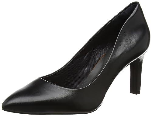 Total Motion Valerie Luxe Pump, Zapatos de Tacón con Punta Cerrada para Mujer, Negro (Black), 38 EU Rockport