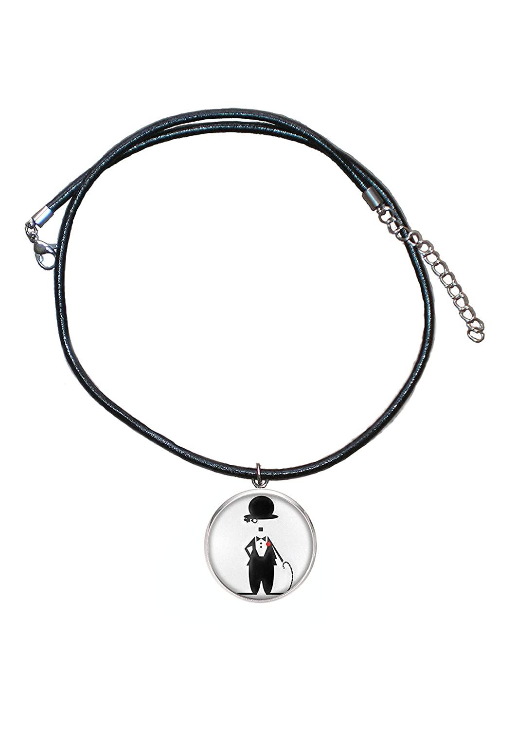 Amazon.com: Stainless Steel Pendant, 30mm, Leather Cord ...