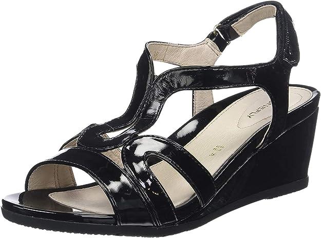 TALLA 37 EU. Stonefly Sweet III 8 Patent, Zapatos con Tacon y Correa de Tobillo para Mujer