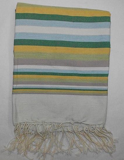 La Habana Verde- 100% algodón Fouta toalla de baño, 100cm x 200cm,