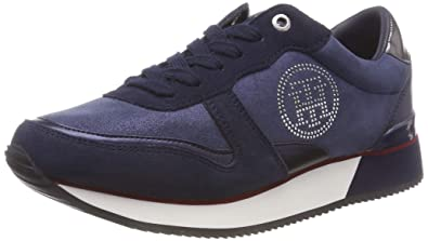 Tommy Hilfiger Tommy Stud City Sneaker Womens Trainers Navy - 40 EU 1cb225f2ae