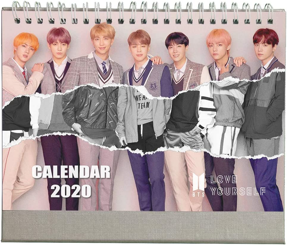Amazon.: Fanstown BTS 2021 Desk Calendar Rap Monster V Junk