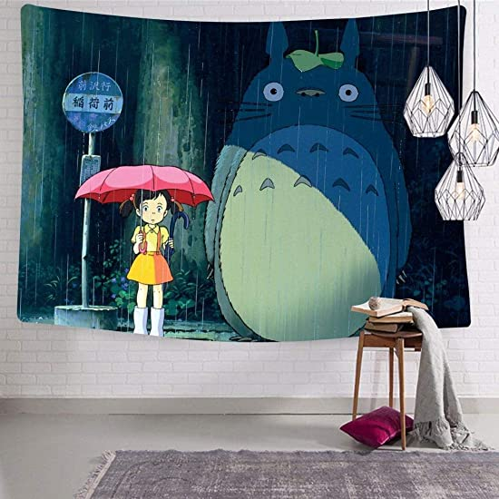 Guakes My N-eiGhb-or T-otoRo Tapestry for Room Decor Wall Hanging for Living Room Bedroom