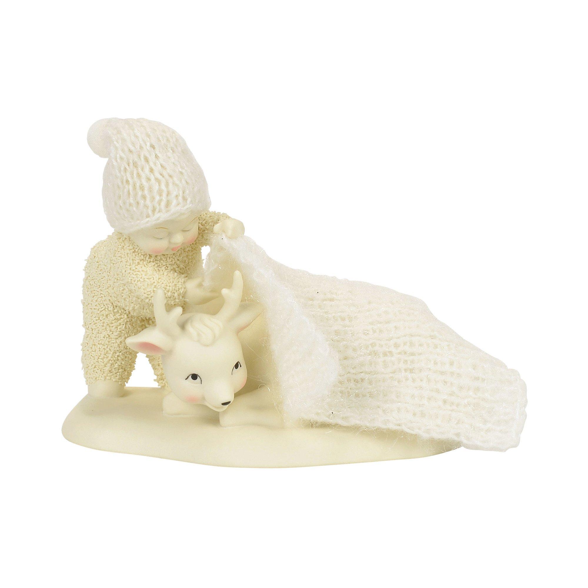 """Department 56 Snowbabies """"Warm Winter's Nap"""" Porcelain Figurine, 4"""""""