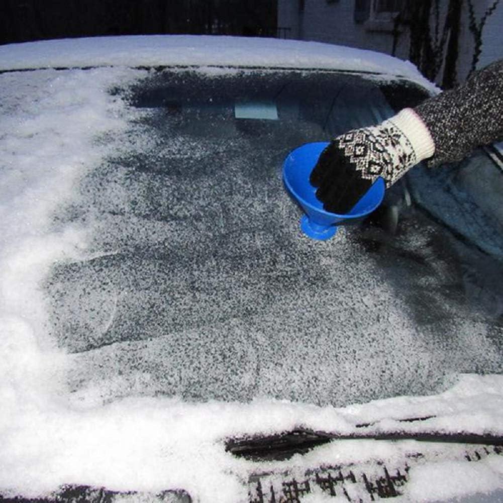 Cone Funnel Shaped Magic Cone-Shaped Car Windshield Ice Scrapers Blue Aochol Car Windshield Snow Removal Scrape-A-Round Ice Scrapers
