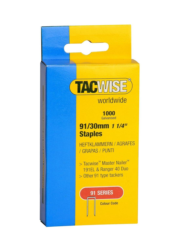 Tacwise 0286 Boîte de 1000 Agrafes à couronne étroite 30 mm Type 91