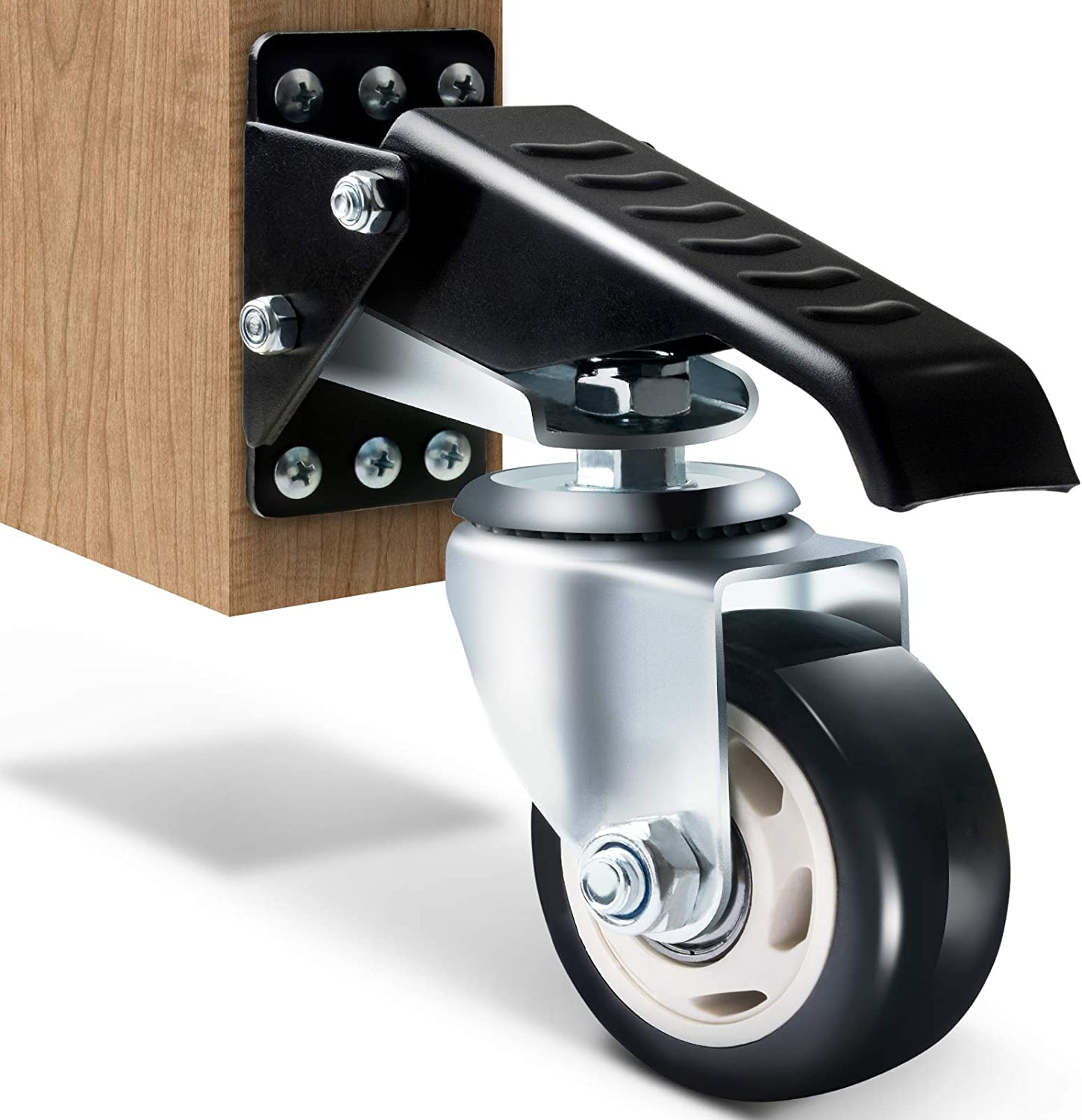 Aluminum Alloy Moving Casters Workbench Casters 360 Degree Woodworking Tool L3Q7