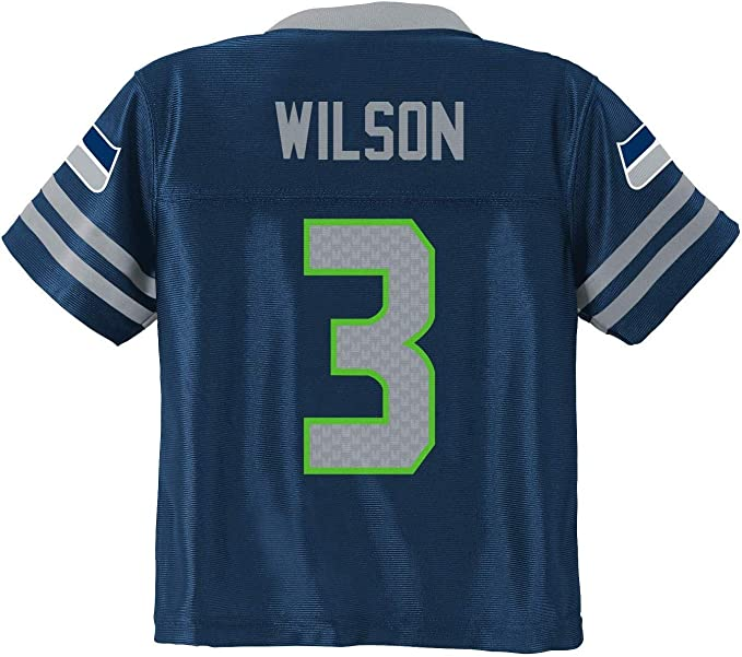 Russell Wilson Seattle Seahawks Navy Blue Home Player Jersey Youth