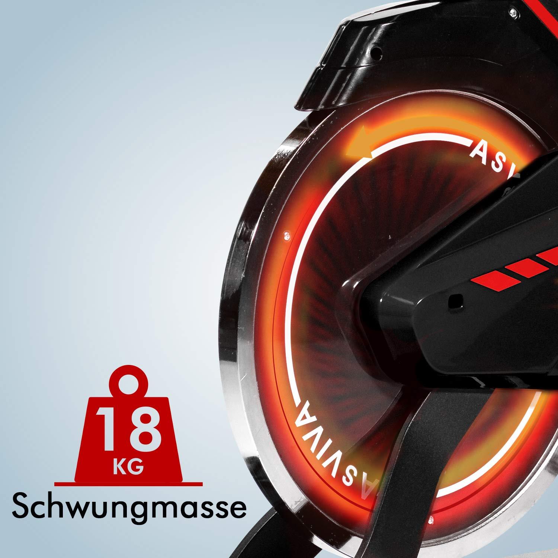 AsVIVA Unisex/ One Size Erwachsene Indoor Cycle /& Speedbike S11 Indoorcycle schwarz