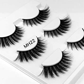 53f63c81843 Amazon.com : 3 pairs natural false eyelashes fake lashes long makeup 3d  mink lashes extension eyelash mink eyelashes for beauty, investigator, ...