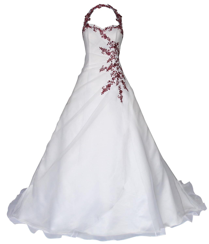 Romantic-Fashion Brautkleid Hochzeitskleid Neckholder Weiß Modell ...