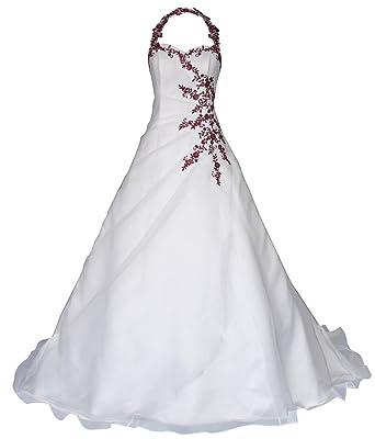 Romantic Fashion Brautkleid Hochzeitskleid Neckholder Weiss Modell