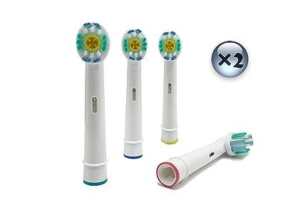 UCA® EB18-4 - 8 cabezales para cepillo de dientes eléctrico de repuesto compatible