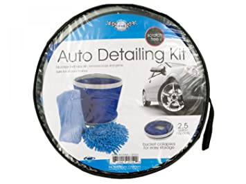 Amazon Com Car Wash Kit With Collapsible Bucket Set Of 2