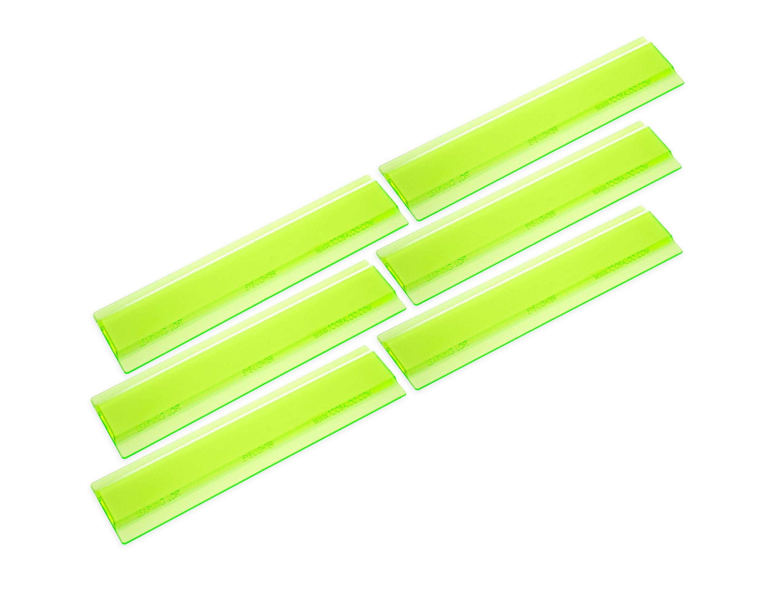 (6 Pack Green) Eye Lighter Colored Overlays For Reading