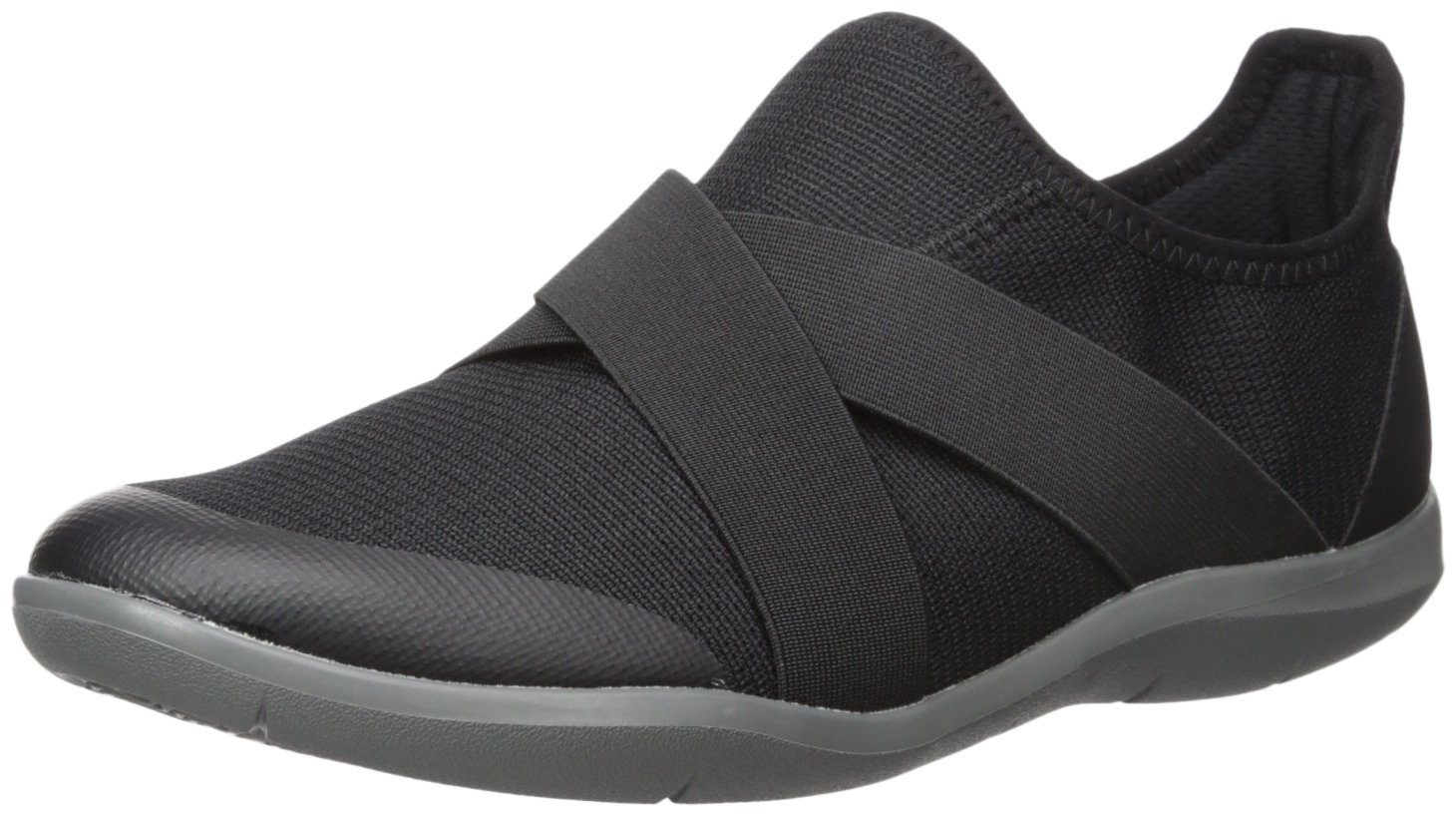 Crocs Women's Swiftwater Cross-Strap Static Flat, Black, 9 M US