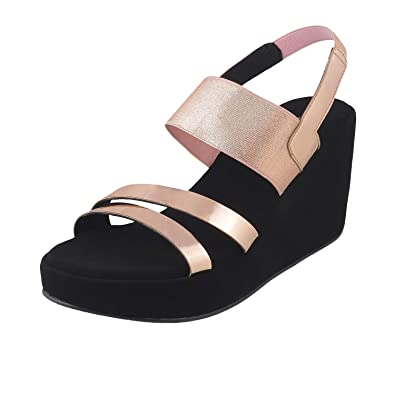 552985cfc0c4 Metro Women Black Synthetic Sandals (34-9407) (34-9407-11-BLACK)  Buy Online  at Low Prices in India - Amazon.in
