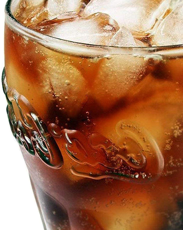 Capacidad de hasta 460 ml l 12 Zenhica Juego de Vasos de Cristal Coca-Cola Color Verde Botella