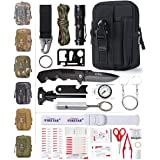 ETROL 22-in-1 Emergency Survival Kit & First Aid Kit, Upgraded Portable Tactical Molle Pouch for Camping, Earthquake, Boat, H