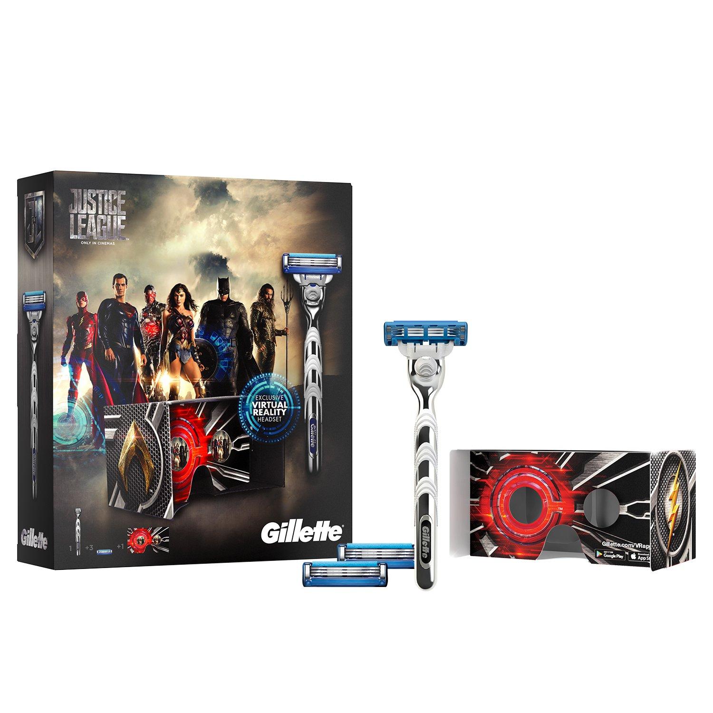 Gillette Fusion - Maquinilla De Afeitar Gillette Para Hombre + 11 Recambios Procter & Gamble 108278776 FlexBall Mach3