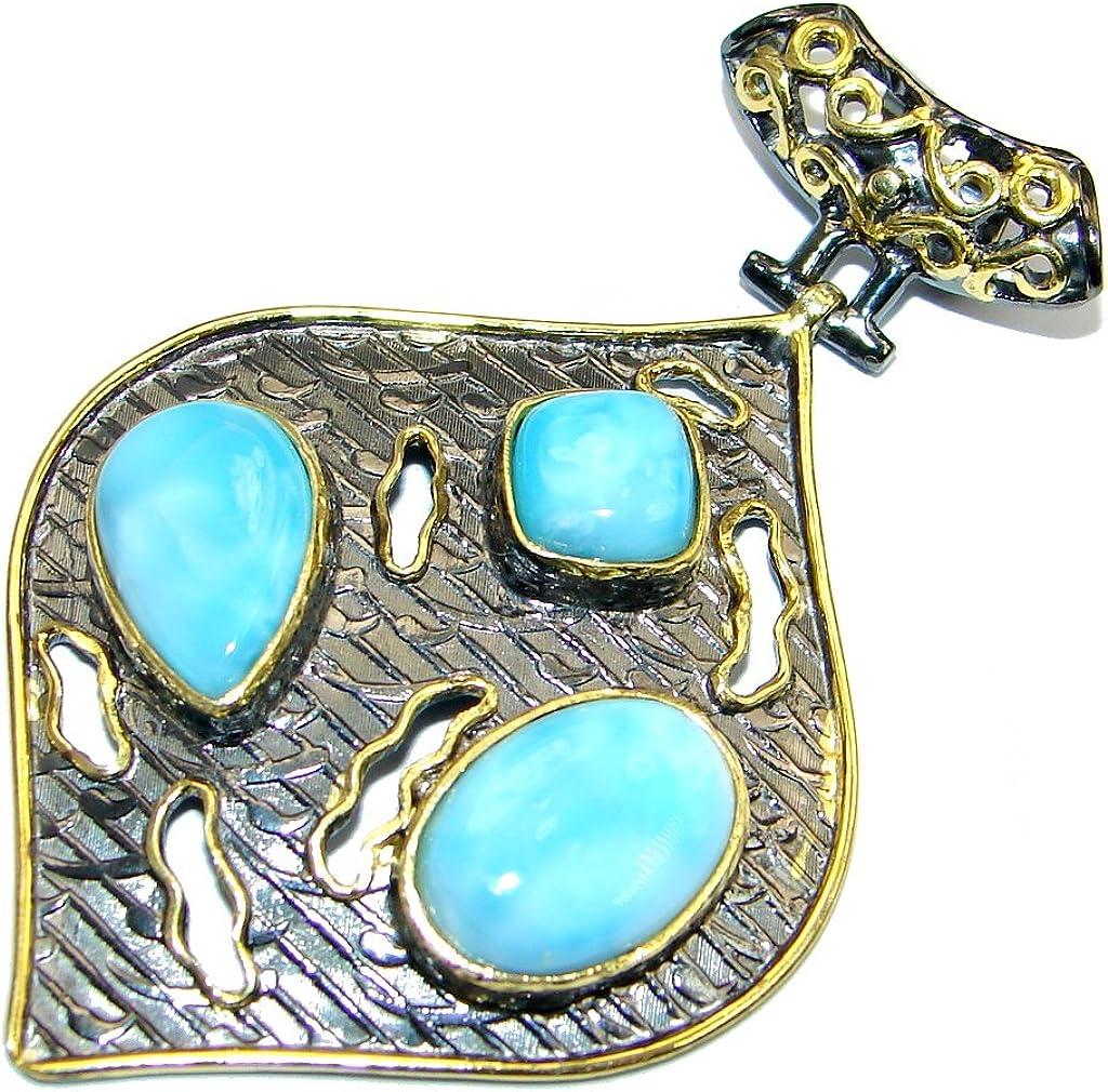 Larimar Women 925 Sterling Silver Pendant FREE GIFT BOX
