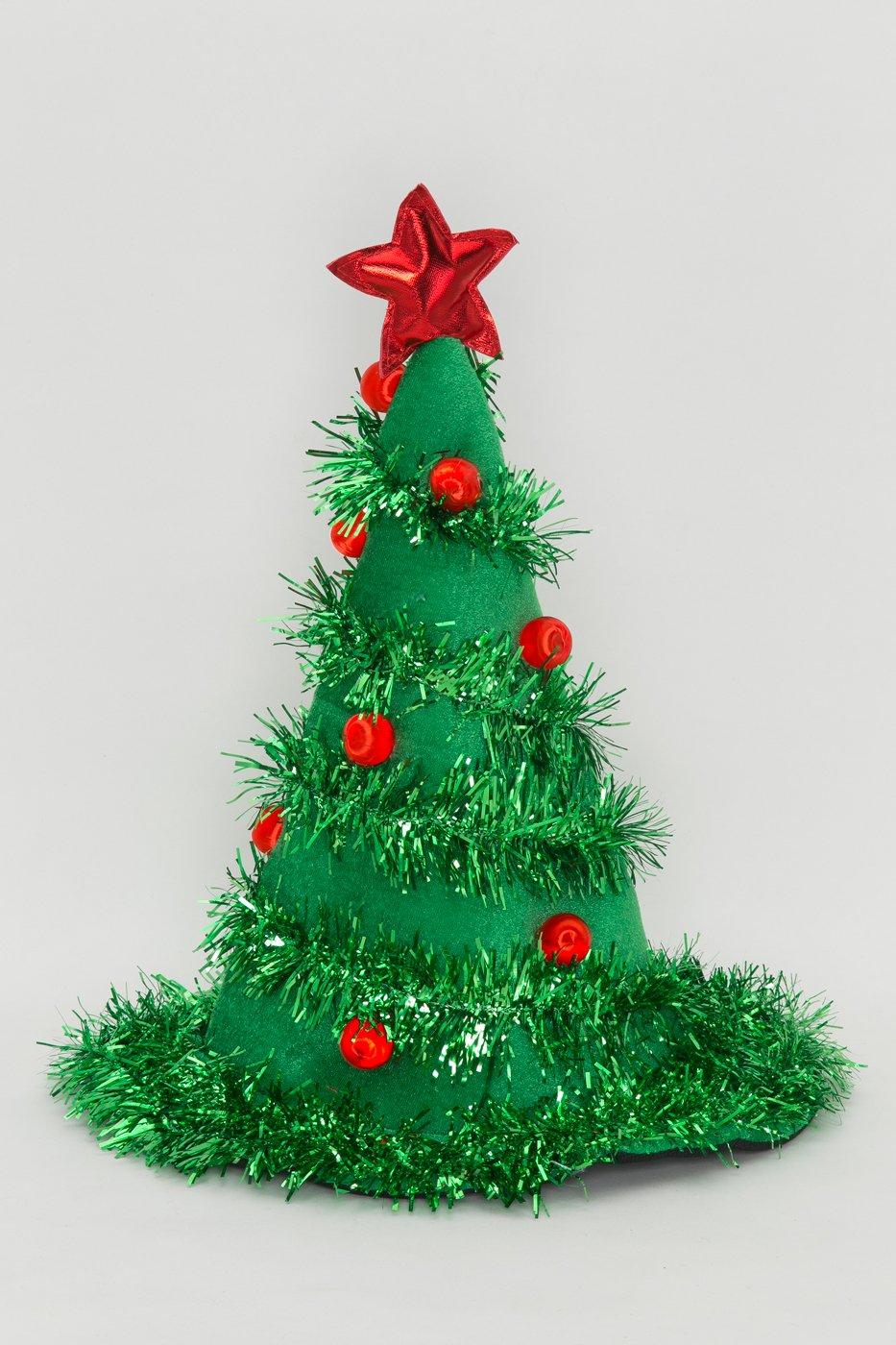 Amazon.com: Jacobson Hat Company Adult Light-Up Christmas Tree Hat ...