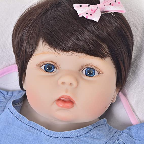 Amazon.com: HUAXING 57cm Cute Rebirth Silicone Doll Simulation Doll Set Baby Companion Toy Children Realistic Early Education Toy Best Birthday Gift: Home & ...